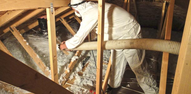 attic blow-in insulation installation Saskatoon
