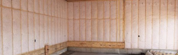 insulation and vapour barrier install